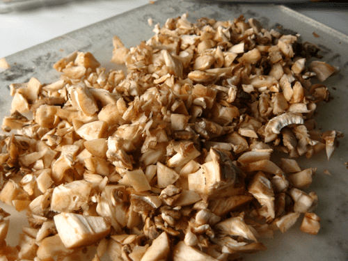 You stuff mushrooms with, well, mushrooms.