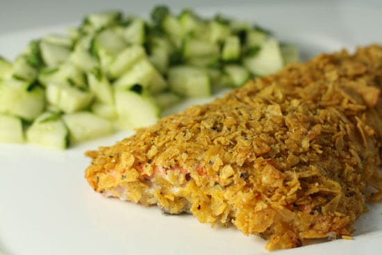 Chip Crusted Salmon