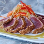 Former Chef: Coriander Crusted Tuna with Cucumber Slaw