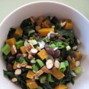 Happy Tummy: Curried Black Beans with Sweet Potatoes and Chard