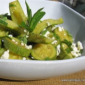 Kalofagas: Zucchini Salad with Feta and Mint