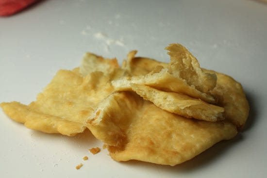 Taste test of chalupa shell. - Chalupas