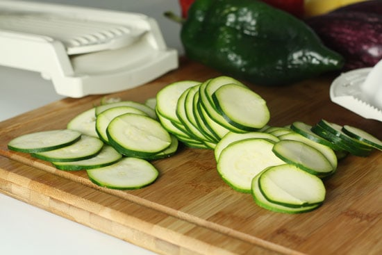 zucchini sliced