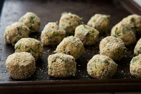 Meatless meatballs.