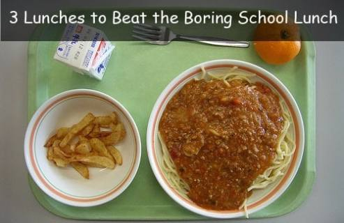 Three Fun School Lunches