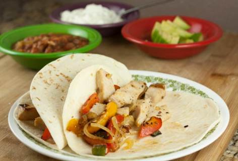 Leftover Turkey Fajitas