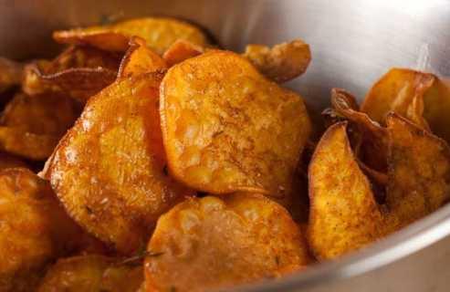 Sweet Potato Chips recipe from Macheesmo
