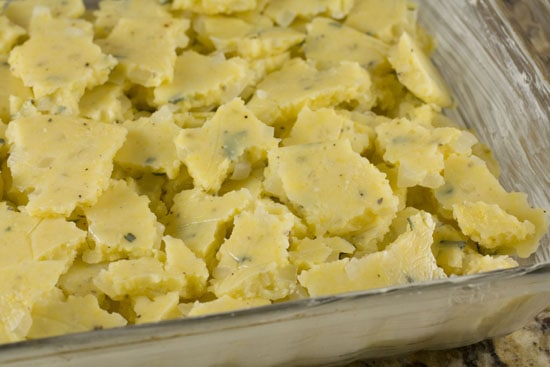 dish of Polenta Gratin