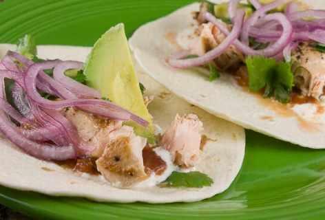 Salmon Tacos