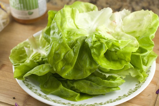 lettuce`for Grilled Tofu Wraps