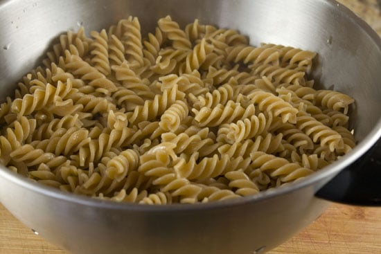 cooked pasta for Picnic Pasta Salad