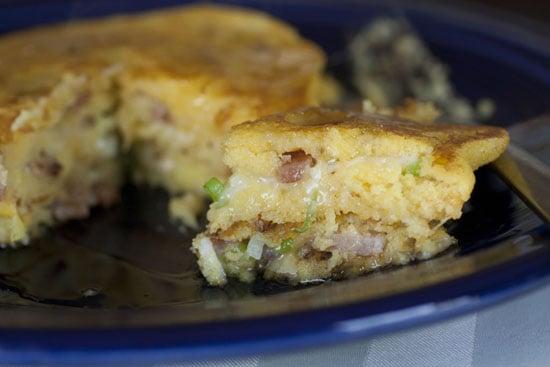 Bacon Stuffed Corn Cakes recipe - Macheesmo