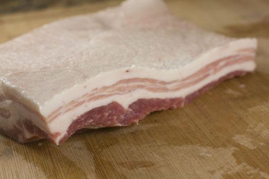 raw pork belly - Pork Belly Sliders