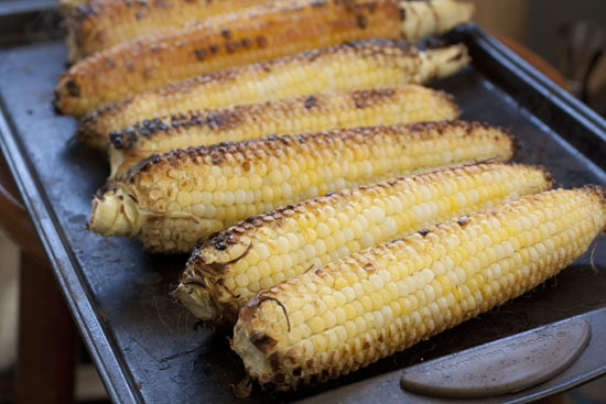 charred corn for Roasted Corn Salsa