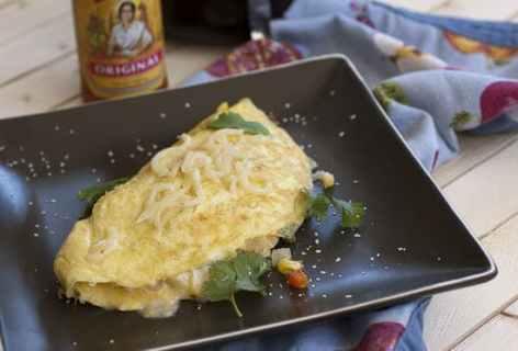 Charred Corn Omelet
