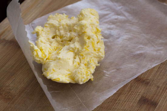 wax paper for storing Simple Compound Butters