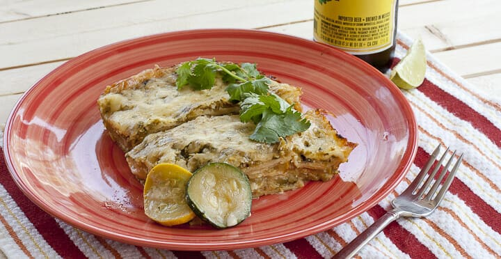 Green Chile Squash Enchiladas