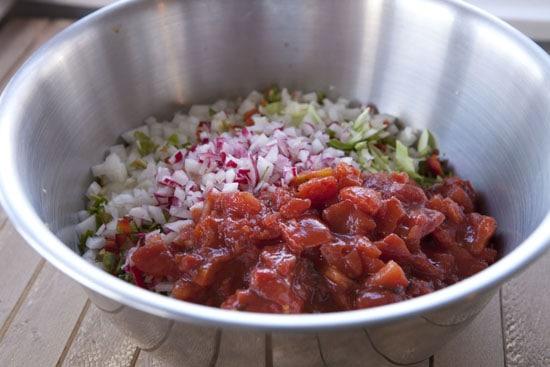 tomato for Cabbage Salsa