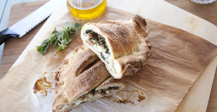 Sausage and Chard Calzones