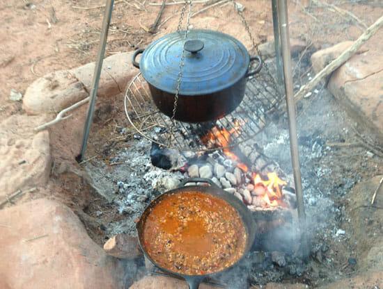 simmering Campfire Jambalaya