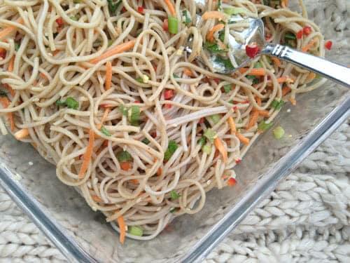 Soba Salad - Hosting a Summer party ~ Macheesmo