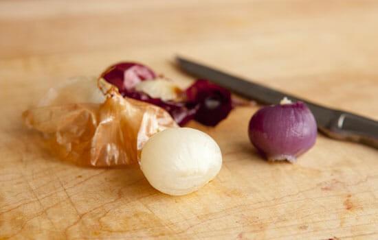 Next day peeling - Pearl Onion Dip