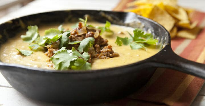 Chorizo Queso: This recipe makes enough for two, you and your best friend. That's the only person you'll want to share it with. Actually, you may not want to share it. I won't tell.