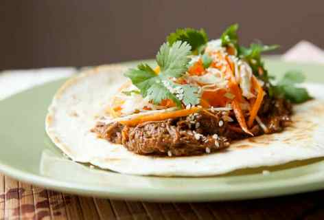 Slow Cooker Korean BBQ Tacos