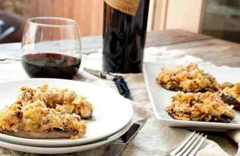 Artichoke Stuffed Mushrooms: Beautiful portobello mushrooms stuffed with sun-dried tomatoes, artichokes, and cheese. I like mine grilled! So perfect for a classy appetizer or even a light dinner. | macheesmo.com