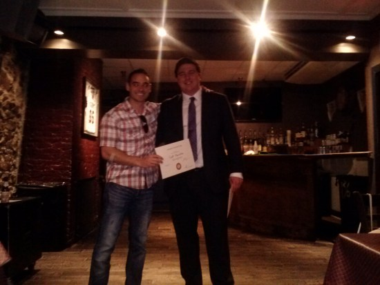 Being awarded for my presentation to the Annapolis Rotaract Club
