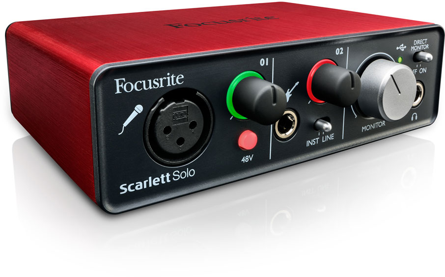 Scarlett Solo is Focusrite Quality I/O at a Nice Price