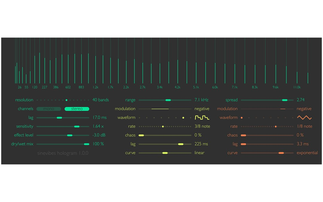 Sinevibes reveals Hologram spectral re-synthesizer plug-in
