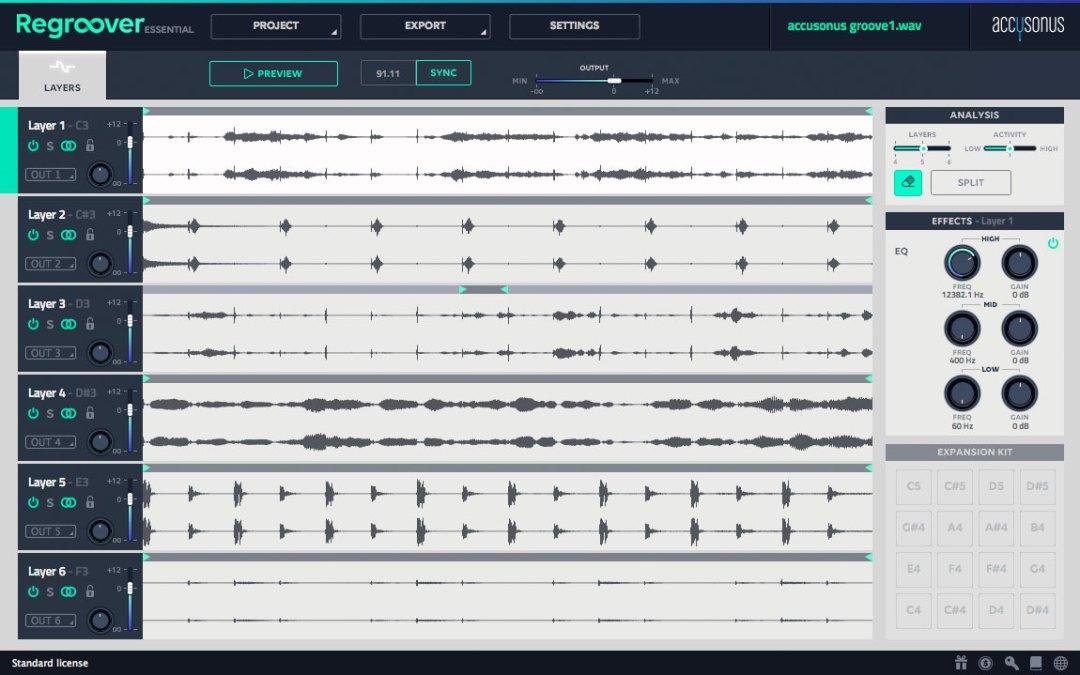 Accusonus Regroover is an intelligent un-mixing beat machine