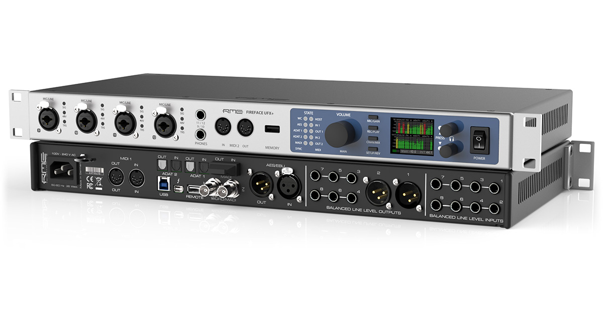 RME ships Fireface UFX+ 20th anniversary flagship interface