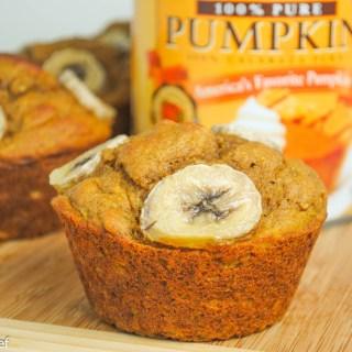 Jumbo Pumpkin Banana Muffins