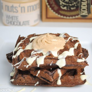 White and Dark Chocolate Protein Waffles