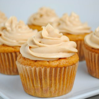Peanut Butter Toffee Protein Cupcakes