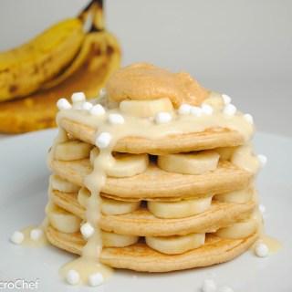 Banana Fluffernutter Protein Pancakes