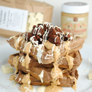 White Chocolate Brownie Protein Waffles
