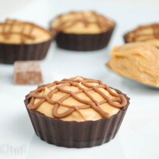 Mini Chocolate Peanut Butter Protein Pies