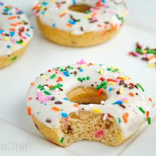 Confetti Cake Protein Donuts