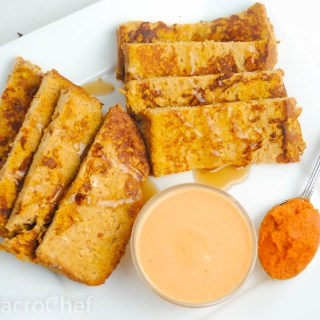 Pumpkin Protein French Toast Sticks