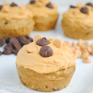 Peanut Butter Chocolate Chip Protein Cupcakes