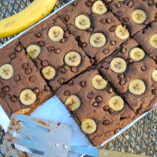 Chocolate Banana Protein Sheet Pancakes