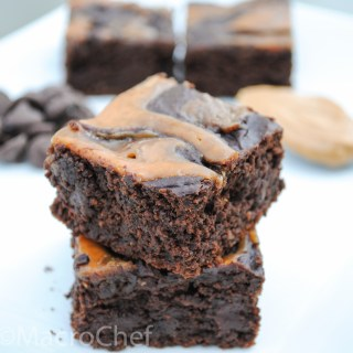 Peanut Butter Swirl Black Bean Protein Brownies