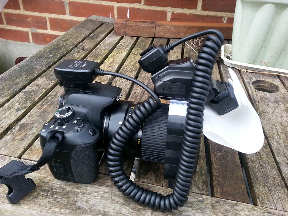 MPE-65mm and Canon 270ex Flash diffusion Mk1