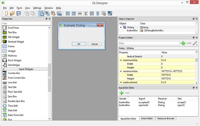 Qt Designer Screenshot