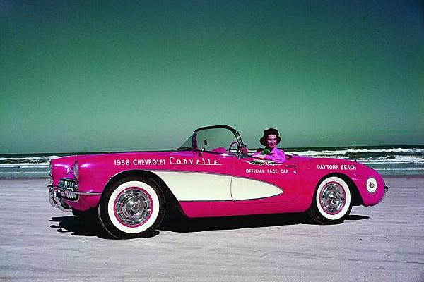 1956 Corvette Daytona pace car Betty Skelton
