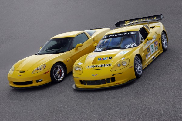 2006 Chevrolet Corvette Z06 and Corvette C6-R Race Car
