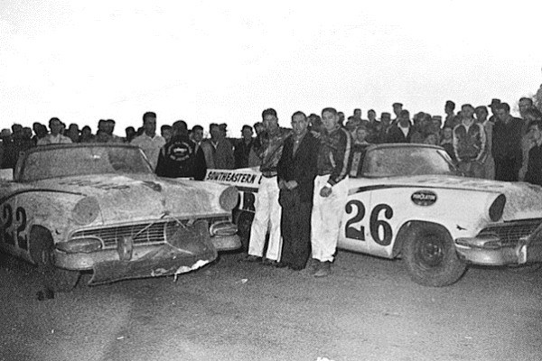 Curtis Turner 26 Fireball Roberts 22 1956 Fords
